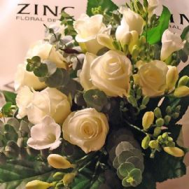 'Fragrant white rose' hand tied bouquet