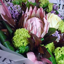 Pink Protea hand tied bouquet