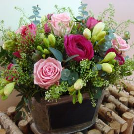 Vintage trug arrangement