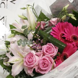 'New Pink' hand tied bouquet