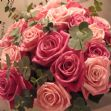 'Oh so girly' roses hand tied bouquet