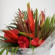 Tropical Valentines hand tied bouquet